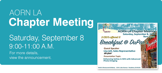 Chapter Meeting September 8, 2018